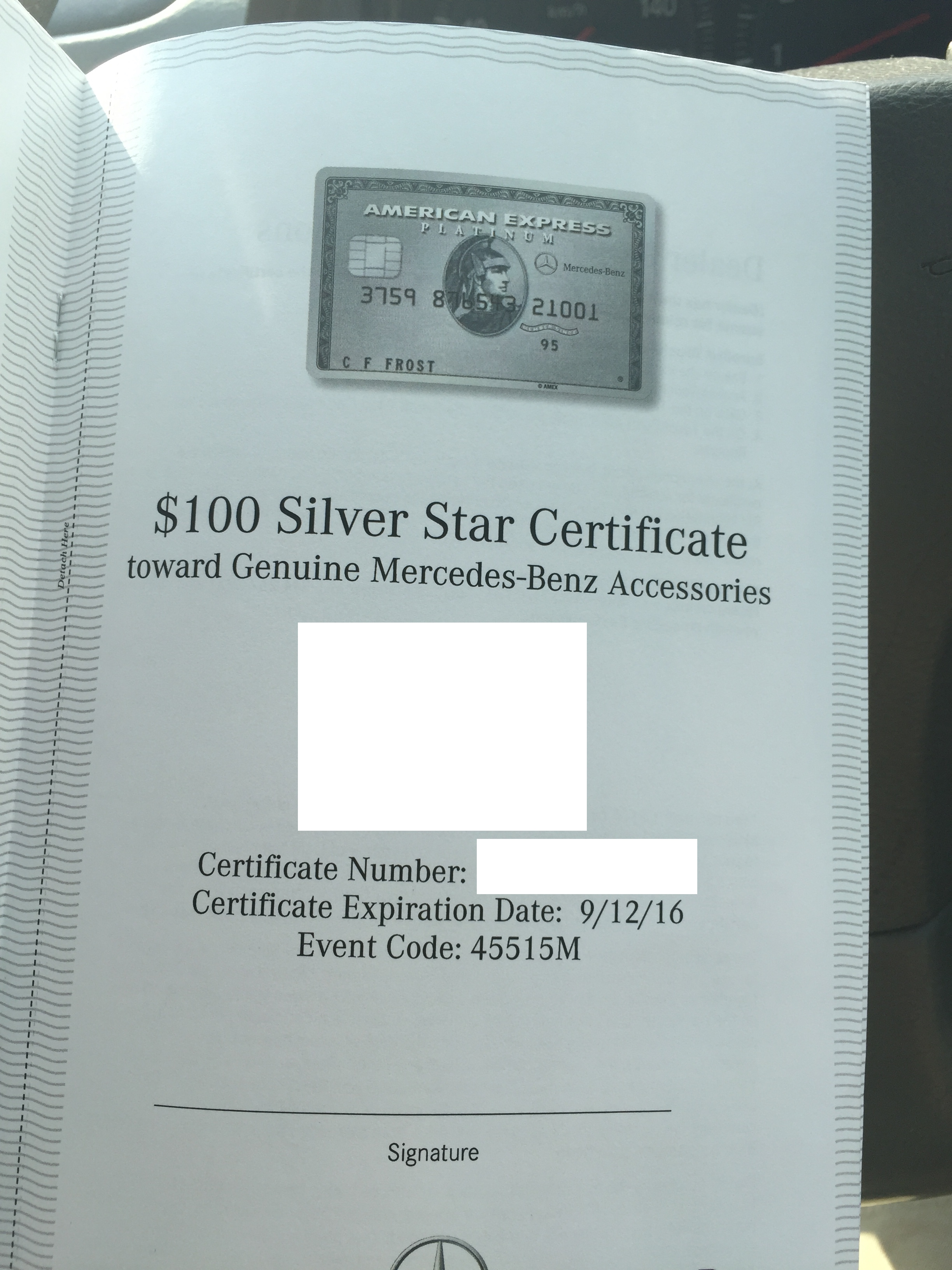 The elusive mercedes benz platinum american express card for Mercedes benz credit score requirements